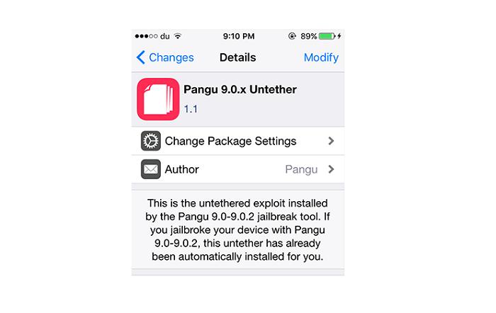 ពីពេលនេះ គ្មានបញ្ហាក្នុង Cydia ច្រើនទៀតទេសម្រាប់ iOS 9 ព្រោះ Pangu បញ្ចេញ Tweak មួយនេះ អោយអ្នកតម្លើង