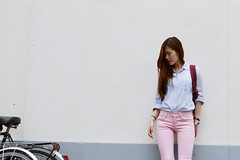 likeabyul_pastel_1 (Likeabyul) Tags: paris fashion french asian couleurs pastel stripes chinese bikes style korean hm asiangirl babyblue lookbook asos rayures streetstyle babypink ootd zipia