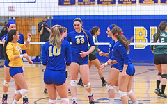IMG_4641-01 (SJH Foto) Tags: school girls private high catholic state pennsylvania volleyball cheer championships academy vball huddle marian northstar 2015 semifinals