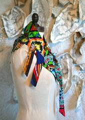 star dust neckpiece5 (Danny W. Mansmith) Tags: sculpture art scarf bright handmade oneofakind sewing lion tribal wearableart wearable bold neckwarmer africanfabric dannymansmith burienwashington wwwdannymansmithetsycom