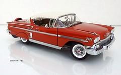 1958 Chevrolet Impala Hardtop Sport Coupe (JCarnutz) Tags: chevrolet belair 1958 impala diecast 124scale danburymint