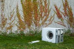 still life with wine (erix!) Tags: meadow wiese washingmachine waschmaschine wilderwein