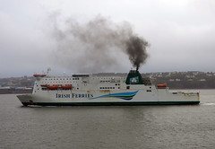 A grey day made even grubbier... (daviddb) Tags: irish ferry low pollution ferries fuel sulpher irishferries pollutant