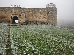 welcome to Shusha (vitamink8) Tags: winter mist snow history abandoned fog azerbaijan caucasus nagornokarabakh armenia derelict shushi shusha