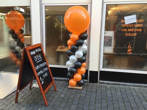Ballonpilaar Breed Rond Kaldi Bergen op Zoom