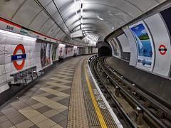 Market Forces (Douguerreotype) Tags: city uk england urban london sign underground subway metro britain tube bank tunnel gb british urbex