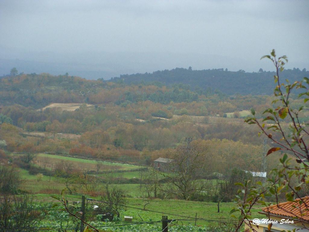 Águas Frias (Chaves) - ... vista dos campos em dia enevoado ... o outono está a acabar ... -  Dez 10