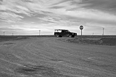 U.S. Highway 87 - Chouteau County, MT (Rex Mandel) Tags: rural montana empty powerlines wires telephonelines bigsky stark telephonewires emptiness powerpoles bigskycountry lonelyhighway highway87 ushighway chouteaucounty