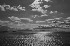 Wow (Paterdimakis) Tags: travel light sea sky bw sun white seascape black beautiful beauty sepia clouds dark grey see blackwhite waves view greece land seaview attica blackwhitephotos