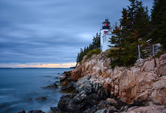 Bass Harbor LE (sarah_presh) Tags: longexposure sea usa lighthouse maine le bassharbor acadianationalpark nikond7100
