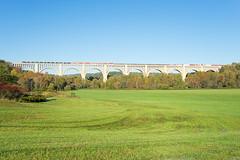 NS 11Z @ Nicholson, PA (Mathieu Tremblay) Tags: nicholson pennsylvania unitedstates ns norfolk southern railroad railway chemin fer train locomotive bridge pont viaduct lackawanna 11z fall automne a99 sony sal2470z