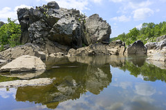 Zen at Great Falls (johngoucher) Tags: approved outdoor rock landscape rockformation cliff crag water creek potomacriver greatfalls summer river maryland calm dctography