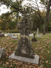 Bluff City Cemetery (Gabrielle Gaia) Tags: bluffcitycemetery elgin illinois il cemetery graveyard grave autumn fall cross crucifix