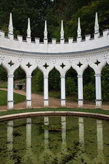 Rococo Pergola Painswick (Bruce Poole) Tags: 2016 brucepoole painswickrococogarden painswick gloucestershire cotswolds england gardens jardins jardi historic reflection reflet mirror pool pond arches rococo arch rococoarch