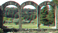 Arches Roman Baths Fiesole 3D (wim hoppenbrouwers) Tags: roman baths fiesole 3d romanbaths fiesole3d arches anaglyph stereo redcyan ancient