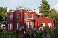 Painted Brick House (en tee gee) Tags: building red newburg ny
