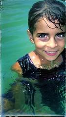 Greenery :)) (angelinavukel) Tags: pointofuphotography beach wet portrait water edit smile littlegirl eyes frame hazel green angelinavukel snapseed