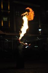 (Marcin Szczsny) Tags: fire flame fireeater old arket square street show poznan pozna ogie pomie poykacz ognia uliczny pokaz