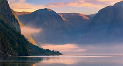 Sunrise Aurlandsfjord - Norway (~ Floydian ~ ) Tags: henkmeijer photography floydian aurlandsfjord norway sognefjord fjord flam aurlandsvangen aurland sognefjorden sognogfjordane norwegian sunrise morning lake dawn mountain mountains tranquil tranquility serene peaceful nature natural scenery landscape landscapes canon canoneos1dsmarkiii wow