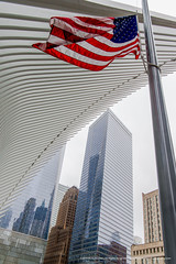 The flag of the United States of America (RudyMareelPhotography) Tags: downtown downtownmanhattan manhattan newyork usa worldtradecenter architectural architecture building cityscape landmark urban urbancomposition flickrclickx flickr ngc