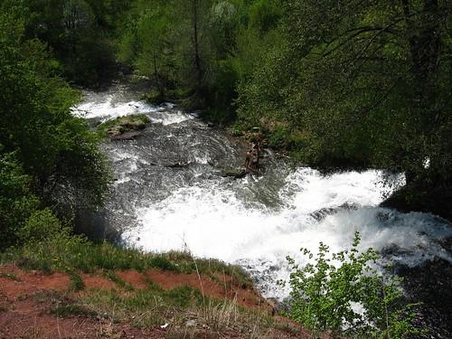 Джуринський водоспад, вигляд зверху
