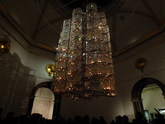 Bicycle Chandelier, 2015 (failing_angel) Tags: 111215 cityofwestminster westminster royalacademyofarts piccadilly aiweiwei bicyclechandelier bicycle crystals