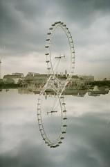 London Eyes (iampaulrus) Tags: paulfargher paulfargherphotography colour color 35mm film filmisnotdead lomography lomo lca splitzer doubleexposure multipleexposure londoneye thames london photoexpresshull