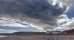 Clouds at Beesands (dave:w:) Tags: beach devon uk beesands autumn october shore sand shingle weather front house white england