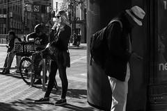 Market and Fourth (Jim Watkins Photography) Tags: sanfrancisco california streetphotography street people blackwhite smoking shadows