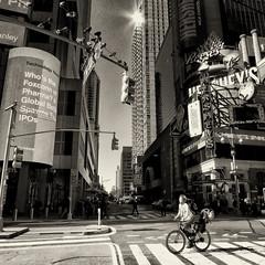 cyclist (Le Xuan-Cung) Tags: cyclist timessquare nyc newyorkcity usa streetphotography bigcity citylife urban urbannewyork urbanshots bw nb sw blackandwhite noiretblanc streetscene streetshots streetlife