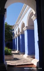 Santa Catalina Monastery - Arequipa Peru (WanderingPhotosPJB) Tags: blue peru arequipa santacatalina saintcatherine colour colourful monastery convent arch