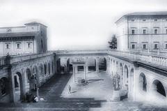 Architettura e geometrie sacre. (franco.56) Tags: abbazia montecassino italia franco biancoenero nikon