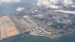 Changi from the air (sth475) Tags: aerial view fromtheplane changi airport runway water aircraft planes singapore singapura