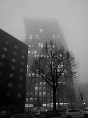 St.Pauli - Zirkusweg (chicitoloco) Tags: dancingtowers tanzendetrme twincocks dancing towers tanzende trme nebel fog misty