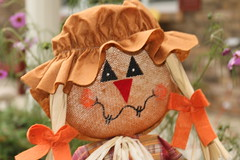 smile for the camera (parrotlady66..) Tags: practicephotos scarecrow falldecor canon70d girl