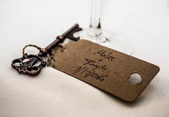 two people starting a life together (-gregg-) Tags: wedding bokeh key glass