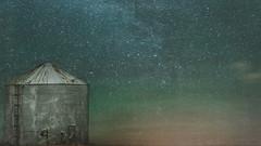 Mystic Silo (Melinda G Pix) Tags: overlay photoshop stars grainbin silo