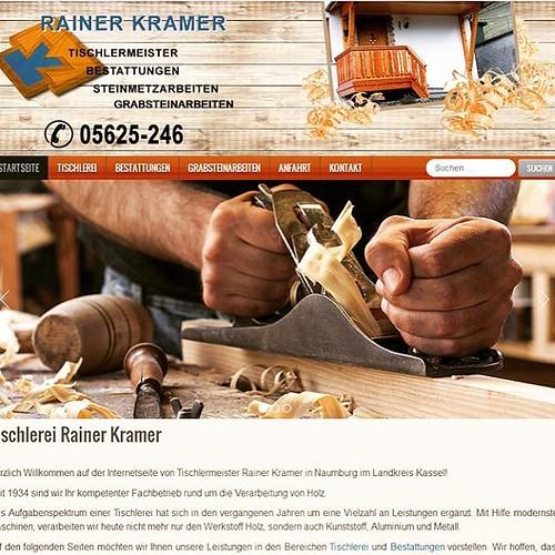 Die #Website der Tischlerei Kramer von Rainer Kramer aus Naumburg hat ein neues #Design bekommen. Sie technisch auf den neuesten Stand gebracht. Mit der Nutzung eines modernen Content Management Systems stellt sich die #Webseite in einem neuen #Responsive