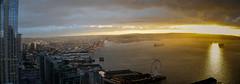 Cloudy Sunset over Elliot Bay (Safdave) Tags: sunset elliotbay seattle harbor ships city goldenlight