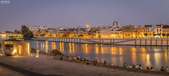 Sevilla 2016-06 N 40 (-COULD 2.0) Tags: sevilla night ngc noche canon650d andalucia sigma1750 panormica paisajes landscape seville spain river rio guadalquivir agua