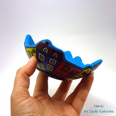 Nambi trinket bowl (Art Studio Katherine) Tags: nena nevenkasabo nambi tutorial artstudiokatherine polymerclay polimerskaglina patepolymere arcillapolimerica house bowl trinket colorful happywitch loveliebeamor