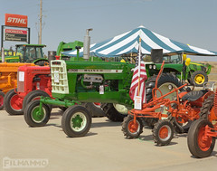 Show Tractors (FilmAmmo) Tags: paulhargett filmammo haysks pentax6x7 mediumformat 120 film tractorshow kodakportra