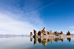 Mono Lake Tufa Reflections (Bryan Nabong) Tags: easternsierras geography california duck lake landscape leevining monolake northamerica reflection rockformation sky southtufa tufa unitedstates water