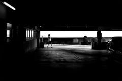Always in a hurry (Leica M6) (stefankamert) Tags: stefankamert street black blackandwhite blackwhite noir noiretblanc monochrome mono woman people alwaysinahurry hurry light dark leica leicam6 m6 m voigtlnder nokton ilford fp4