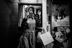 She goes... (Presence Inc) Tags: night portrait dark rx1rm2 cinematic street rx1r transport city people filmmood mirrorless fullframe texture citylife 35mm backlit compact everyday candid tokyo designtheory photography layers sony society bw life japan detail