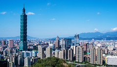 Taipei from Xiangshan (pons5607_3) Tags: taipei 101 taiwan aisa travel photography sony dslra230 landscape asia skyscraper daylight sky blue summer city cityscape buildings tourism copy space outdoor skyline architectur