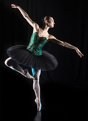 Dance away (joehantsphoto) Tags: ballet tutu green dress nikon bun hair 50mm dancer