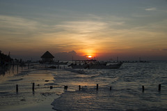 Sunset Isla Holbox Mexiko (ulrike.heck) Tags: sunset isla holbox mexiko stand beach insel karibik ulrikeheck meer sonne sun boote