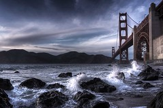CURRENT MOOD (instagram: @ayegaem) Tags: water sf sanfrancisco ocean goldengatebridge bridge travel rocks outdoors clouds winter sonyalpha sonya6000 a6000 beach california