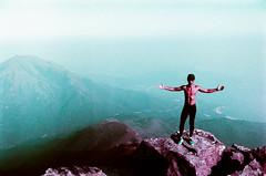 The Trail Runner (Alan P. in Hong Kong) Tags: red lomochromexrpurple lomochrome zenit 122 hong kong lantau city travel hike film 35mm